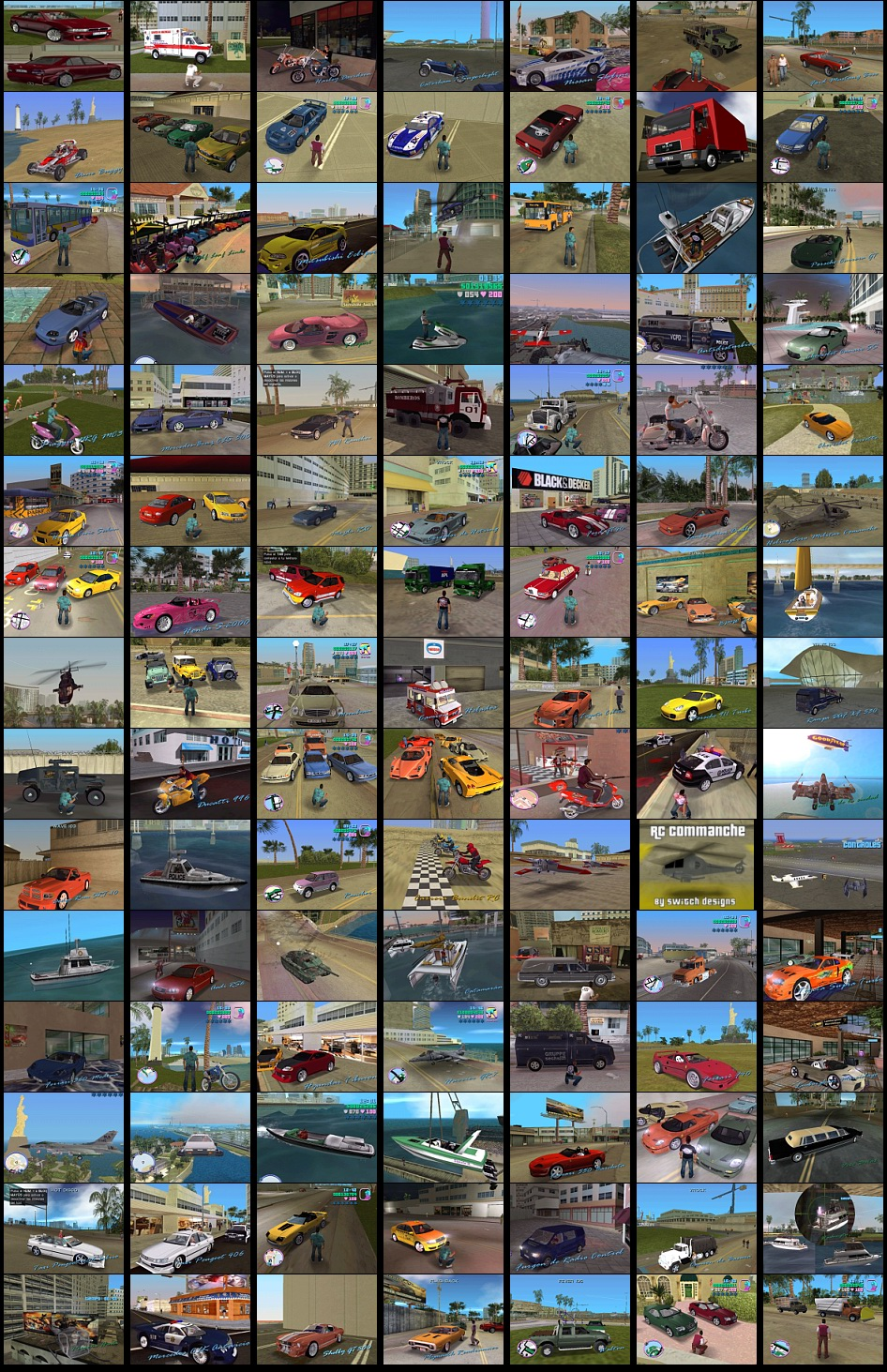 Fotos de los Vehiculos del Mod Starman para GTA Vice City