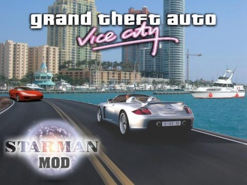 Loading screen for the GTA VICE CITY STARMAN MOD